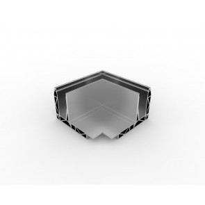 SB-O1 Coin extérieur compléter apparence inox (2 parties)