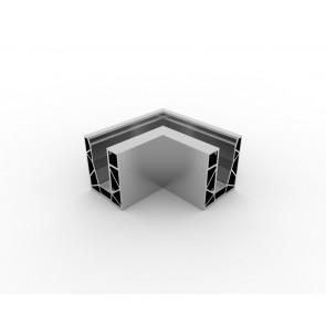 SB-O2S Coin intérieur  compléter apparence inox (2 parties)