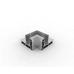SB-O2 Coin intérieur compléter apparence inox (2 parties)