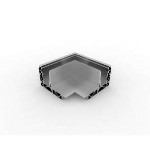 SB-O3 Coin extérieur compléter apparence inox (2 parties)