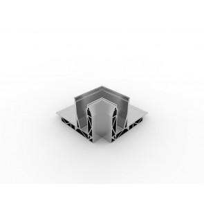 SB-O1 Binnenhoek compleet RVS Look (2 delen)