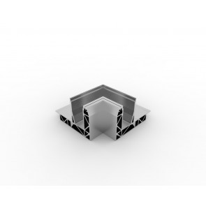 SB-O3 Binnenhoek compleet RVS Look (2 delen)